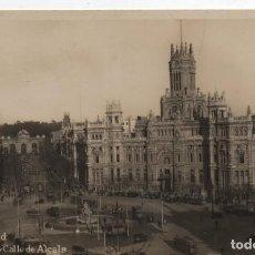 Postales: CIBELES Y CALLE DE ALCALA-CIRCULADA Y SINM DELLO-MADRID. Lote 220524661