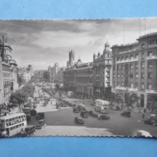 Postales: MADRID. CALLE ALCALÁ. TROLEBUSES. COCHES. Lote 220761917