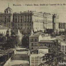 Postales: MADRID. PALACIO REAL DESDE EL CUARTEL DE LA MONTAÑA. FOT. LACOSTE. Lote 221609760