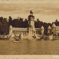 Postales: MADRID. Nº 23, RETIRO, MONUMENTO A ALFONSO XII. HELIOTIPIA DE KALLMEYER Y GAUTIER. Lote 221609942