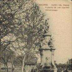 Postales: MADRID. PASEO DEL PRADO, FUENTE DE LAS CUATRO ESTACIONES. Nº 2, SAMSOT Y MISSÈ HS BARNA. Lote 221614881