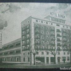 Postales: HOTEL ROMA-MADRID-PUBLICIDAD-POSTAL ANTIGUA-VER FOTOS-(74.865). Lote 221616412