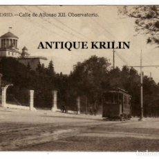 Postales: MADRID Nº 84 CALLE DE ALFONSO XII , OBSERVATORIO .- GRAFOS. Lote 221727420