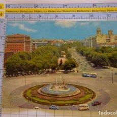 Postais: POSTAL DE MADRID. AÑO 1962. FUENTE DE NEPTUNO Y PASEO DEL PRADO. 126 BEASCOA. 1406. Lote 222292486