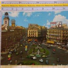Postais: POSTAL DE MADRID. AÑO 1967. PUERTA DEL SOL. 118 ALCALÁ. COCHES. ANIS DEL MODO, OSRAM, CINERAMA. 1412. Lote 222292842
