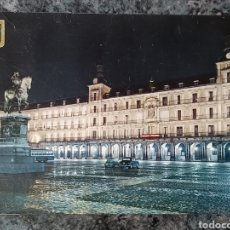 Postales: POSTAL DE MADRID. PLAZA MAYOR. VISTA NOCTURNA.. Lote 222420033