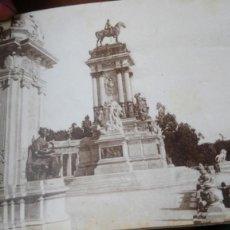 Postales: POSTAL MADRID AÑOS 20 PARQUE DEL RETIRO MONUMENTO A ALFONSO XLL. Lote 222524573