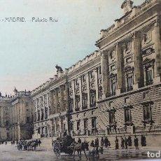 Postales: P-11688. MADRID. PALACIO REAL. POSTAL BR Nº 615. CIRCULADA. AÑO 1918. Lote 222613346