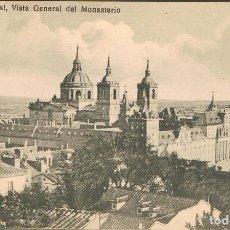 Postales: EL ESCORIAL, VISTA GENERAL DEL MONASTERIO, EDITOR: SIN DATOS. Lote 222685792