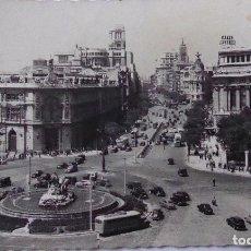 Postales: P-11692. MADRID. PLAZA DE CIBELES. AGOSTO 1957. CIRCULADA. FOTO GARCIA GARRABELLA.. Lote 222930591