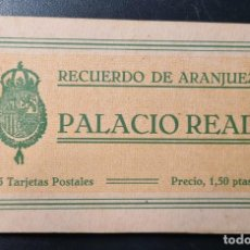 Postales: ALBUM 15 POSTALES. RECUERDO DE ARANJUEZ. REAL PALACIO. QUINCE VISTAS. GRAFOS, MADRID.. Lote 223451286