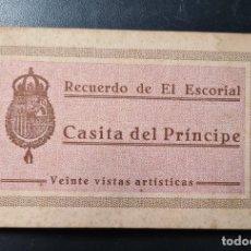 Postales: CUADERNO 20 POSTALES RECUERDO DEL ESCORIAL CASITA DEL PRINCIPE . GRAFOS, MADRID.. Lote 223453011