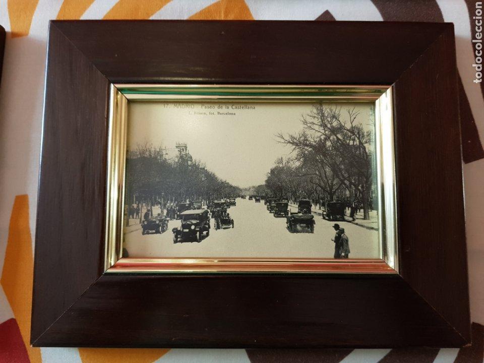 Postales: 4 postales antiguas de madrid enmarcadas - Foto 2 - 223667191