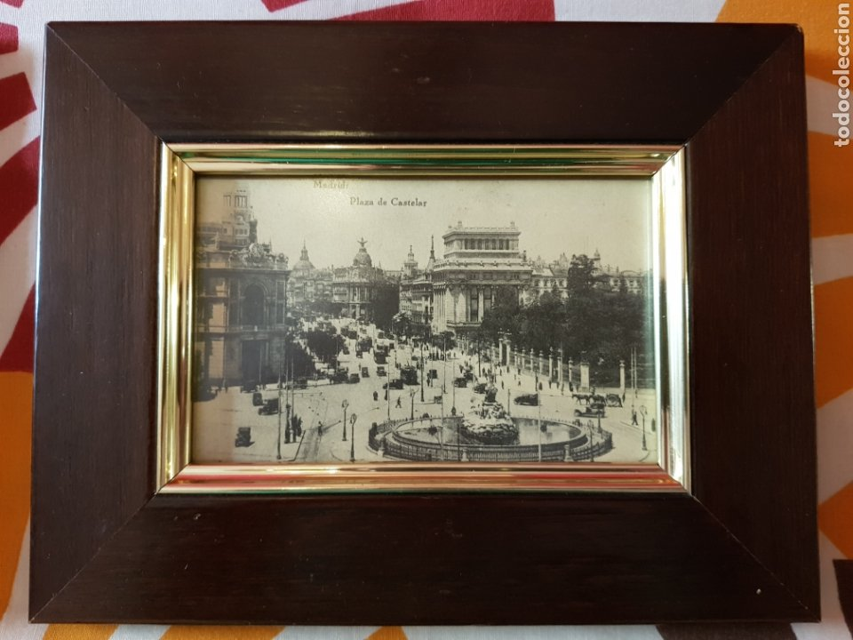 Postales: 4 postales antiguas de madrid enmarcadas - Foto 3 - 223667191