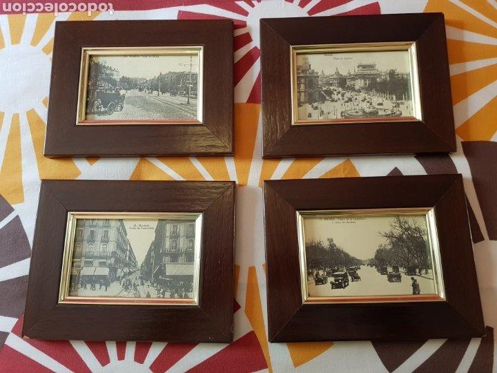 4 POSTALES ANTIGUAS DE MADRID ENMARCADAS (Postales - España - Comunidad de Madrid Antigua (hasta 1939))
