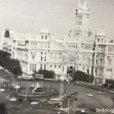 Postales: POSTAL MADRID , B/N - NÚMERO 2 - LA CIBELES Y EL PALACIO DE COMUNICACIONES. Lote 225780040