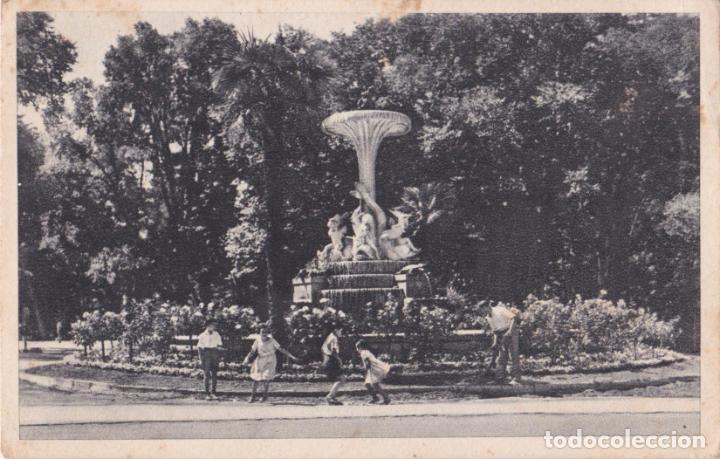 MADRID, PARQUE DEL RETIRO, FUENTE DE LOS DELFINES - L.RÉAUD COLECCIÓN HEMOSTYL - S/C (Postales - España - Madrid Moderna (desde 1940))