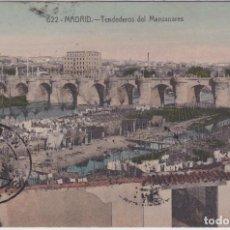 Postales: MADRID - TENDEDEROS DEL MANZANARES. Lote 226403038