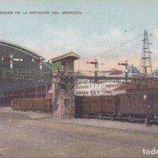 Postales: MADRID - ANDENES DE LA ESTACION DEL MEDIODIA. Lote 226403045