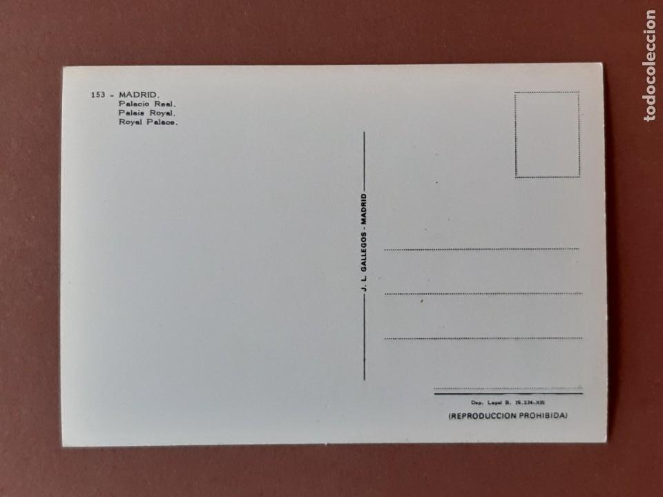Postales: POSTAL 153 J. L. GALLEGOS. PALACIO REAL. MADRID. 1970. SIN CIRCULAR. - Foto 2 - 227744390