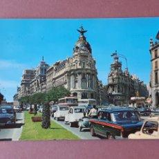 Postales: POSTAL 104 J. L. GALLEGOS. CALLE DE ALCALÁ. MADRID. 1968. RESTAURANTE LE PETIT PARIS. MINUTA.. Lote 227746815