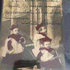 Postales: POSTAL DE 1909 T.G. MADRID, COLOREADA ORIGINAL, CON LEYENDA A MANO. Lote 227990460