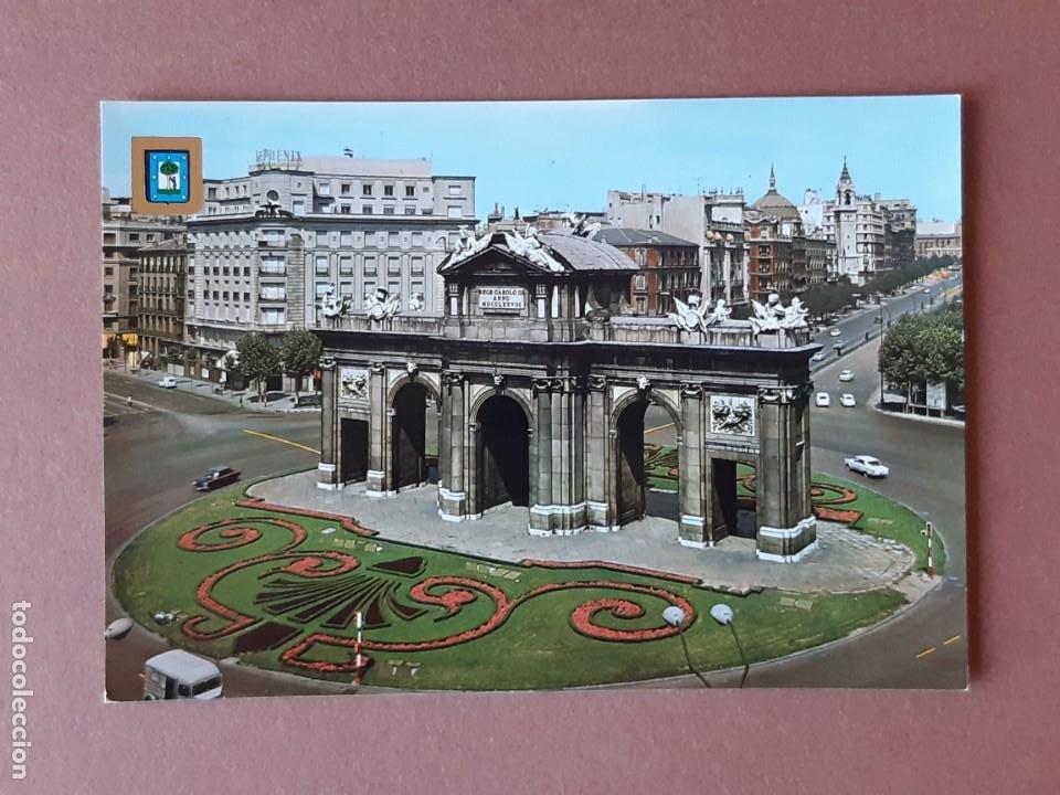 POSTAL 139 DOMÍNGUEZ PUERTA DE ALCALÁ MADRID 1968 .SIN CIRCULAR. II REUNIÓN UNIVERSITARIA ATLETISMO. (Postales - España - Madrid Moderna (desde 1940))