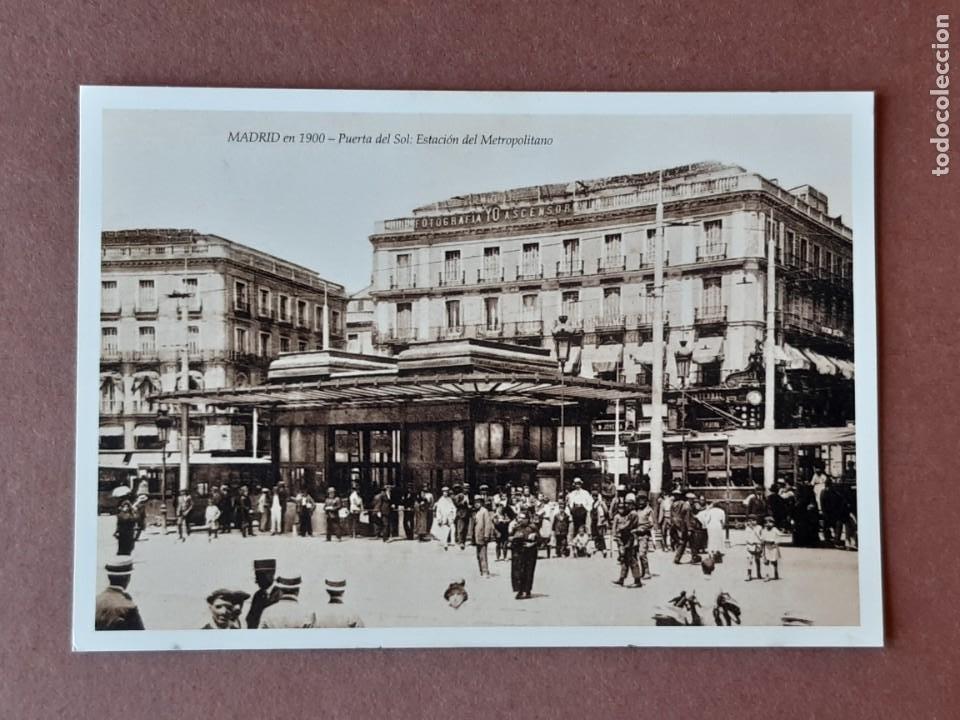 MADRID EN 1900. EDICIONES RÉTRO PHOTO. 6 - PUERTA DEL SOL. REPRODUCCIÓN. SIN CIRCULAR. (Postales - España - Comunidad de Madrid Antigua (hasta 1939))