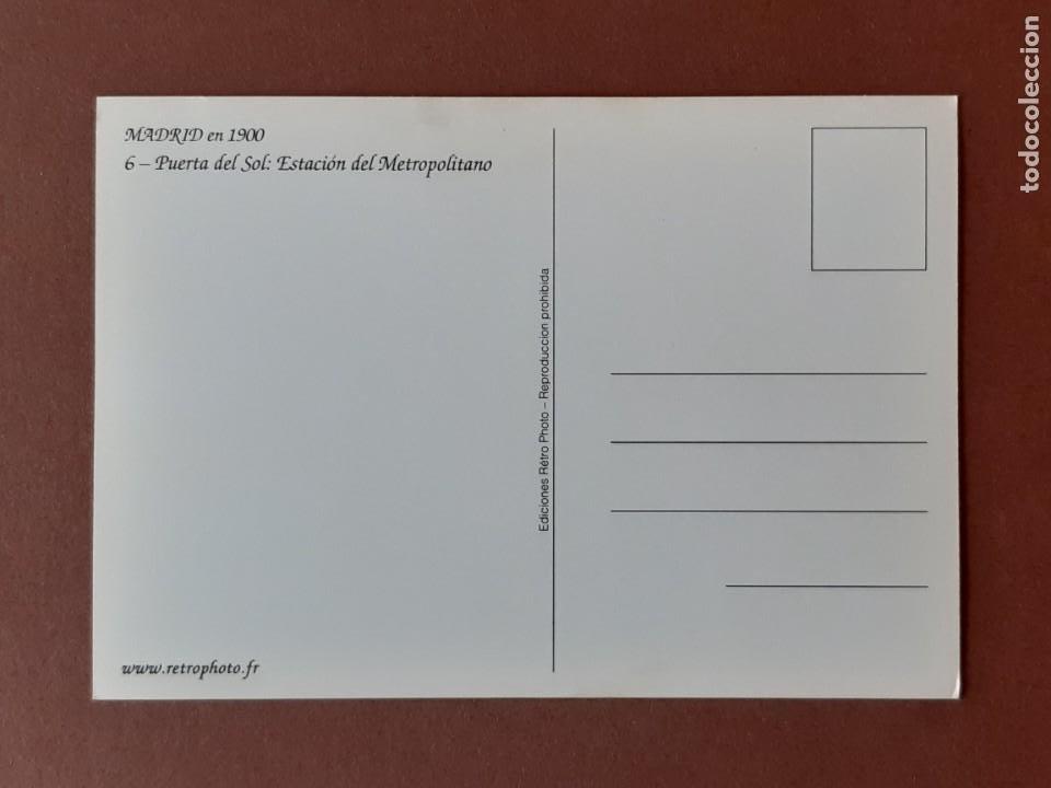 Postales: MADRID EN 1900. EDICIONES RÉTRO PHOTO. 6 - PUERTA DEL SOL. REPRODUCCIÓN. SIN CIRCULAR. - Foto 2 - 228012825