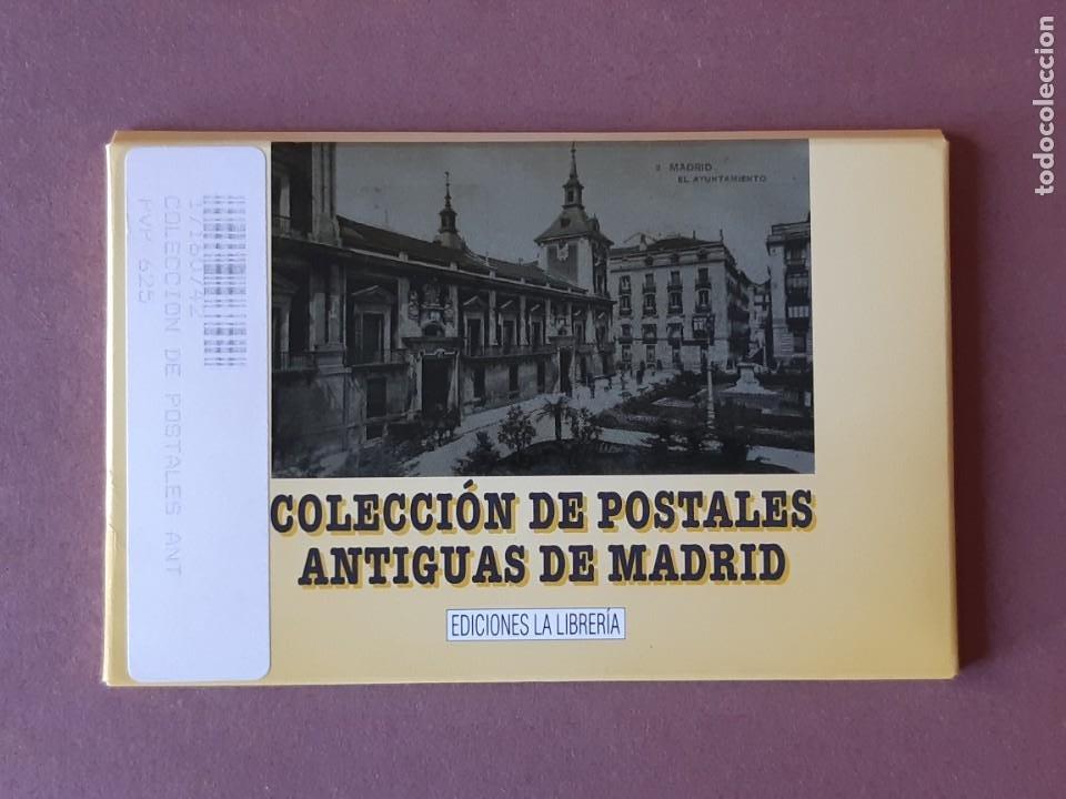 ESTUCHE COLECCIÓN DE 12 POSTALES ANTIGUAS DE MADRID. EDICIONES LA LIBRERÍA 1986-1996. SIN CIRCULAR. (Postales - España - Comunidad de Madrid Antigua (hasta 1939))