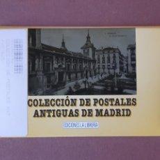 Postales: ESTUCHE COLECCIÓN DE 12 POSTALES ANTIGUAS DE MADRID. EDICIONES LA LIBRERÍA 1986-1996. SIN CIRCULAR.. Lote 228015840