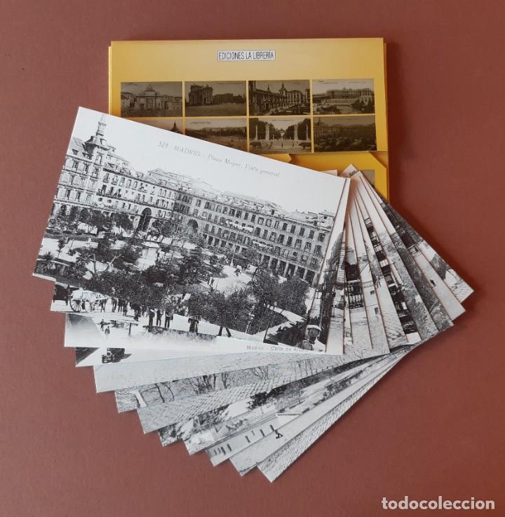 Postales: ESTUCHE COLECCIÓN DE 12 POSTALES ANTIGUAS DE MADRID. EDICIONES LA LIBRERÍA 1986-1996. SIN CIRCULAR. - Foto 3 - 228015840
