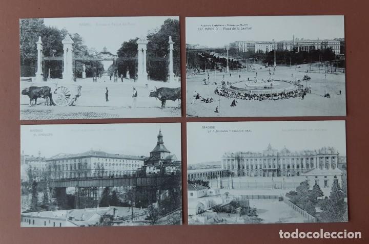 Postales: ESTUCHE COLECCIÓN DE 12 POSTALES ANTIGUAS DE MADRID. EDICIONES LA LIBRERÍA 1986-1996. SIN CIRCULAR. - Foto 6 - 228015840