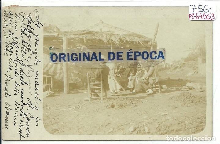 (PS-64053)POSTAL FOTOGRAFICA DESCONOCIDA-GITANOS.DIRIGIDA A ANTONIO CÁNOVAS DEL CASTILLO Y VALLEJO, (Postales - España - Comunidad de Madrid Antigua (hasta 1939))