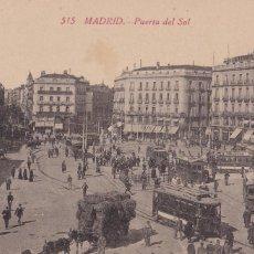 Postales: MADRID PUERTA DEL SOL. ED. CASTAÑEIRA ALVAREZ Y LEVENFELD Nº 515. SIN CIRCULAR. Lote 271413613