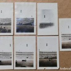 Postales: 7 FOTOGRAFIAS DE LA PLAZA DE TOROS DE FUENTE DEL BERRO, MADRID 25 DE JULIO DE 1919, MIDE 7,3 X 4,8 C. Lote 229110990