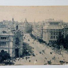 Postales: 105 POSTAL MADRID 66 CALLE DE ALCALA BANCOS DE ESPAÑA Y RIOS DE LA PLATA. Lote 229185320