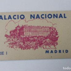 Postales: BLOC, TACO POSTALES PALACIO NACIONAL SERIE I, MADRID, HAUSER Y MENET PERFECTAS. Lote 229681725