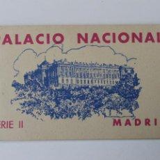 Postales: BLOC, TACO POSTALES PALACIO NACIONAL SERIE II, MADRID, HAUSER Y MENET. Lote 229681995