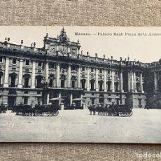 Postales: MADRID PALACIO REAL PLAZA DE LA ARMERIA. Lote 229886075