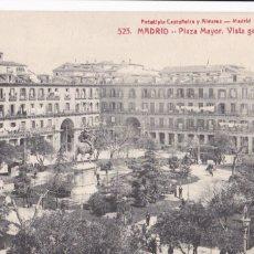 Postales: MADRID, PLAZA MAYOR. ED. FOTOTIPIA CASTAÑEIRA Y ALVAREZ Nº 523. SIN CIRCULAR. Lote 271410163