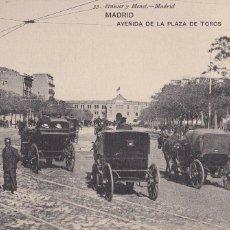 Postales: MADRID, AVENIDA PLAZA DE TOROS. ED. HAUSER Y MENET Nº 53. SIN CIRCULAR. Lote 271411083