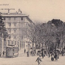 Postales: MADRID, PASEO RECOLETOS (TRANVIA). ED. HAUSER Y MENET Nº 30. SIN CIRCULAR. Lote 271411573