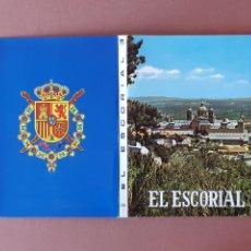 Postales: ALBUM DESPLEGABLE 10 POSTALES. EL ESCORIAL. MADRID. PATRIMONIO NACIONAL. ESCUDO DE ORO. FISA.. Lote 231865180