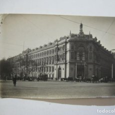 Postales: MADRID-BANCO DE ESPAÑA-FOTOGRAFIA ANTIGUA-VER FOTOS-(76.724). Lote 232502500
