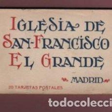Postales: BLOCK DE 20 POSTALES DE LA IGLESIA D SAN FRANCISCO EL GRANDE MADRID HAUSER Y MENET. Lote 232806005