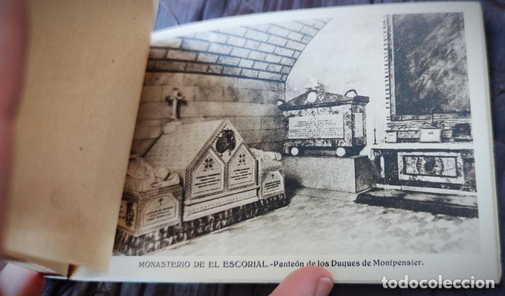 Postales: BLOCK LIBRILLO CON 20 POSTALES EL ESCORIAL - HELIOTIPIA ARTISTICA ESPAÑOLA - COMPLETO - Foto 5 - 232924430