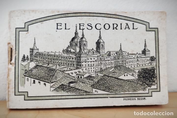 BLOCK LIBRILLO CON 20 POSTALES EL ESCORIAL - HELIOTIPIA ARTISTICA ESPAÑOLA - COMPLETO (Postales - España - Comunidad de Madrid Antigua (hasta 1939))