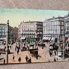 Postales: 1 PUERTA DEL SOL MADRID EDITORIAL TOMAS SIN DIVIDIR. Lote 234001615