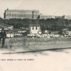 Postales: MADRID-PALACIO REAL DESDE LA CASA DE CAMPO-. Lote 234293990